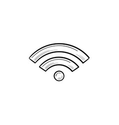 wifi hand drawn outline doodle icon vector image