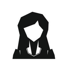 Woman silhouette avatar on white background vector