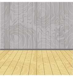 Wooden walls and floor vector