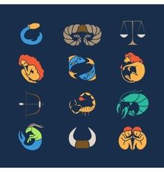 Zodiak set vector image