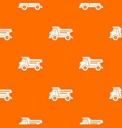 dump truck pattern seamless vector image