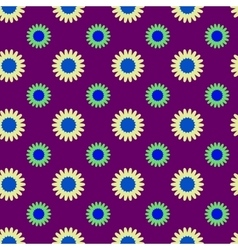 Flowers geometric seamless pattern 4306 vector image vector image