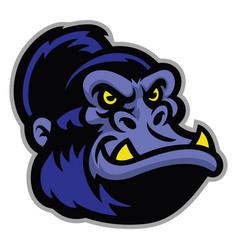 gorilla cartoon head vector image vector image