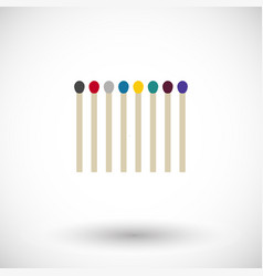 matchsticks flat icon vector image