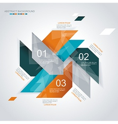 Modern infographics template style vector image vector image