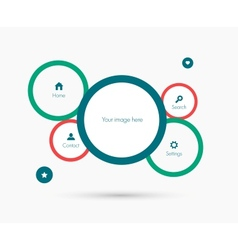Site template Flat design vector image vector image