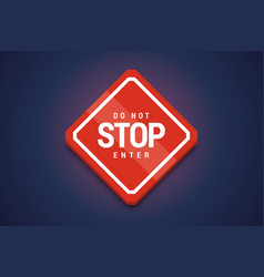 stop do not enter sign vector image vector image