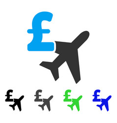 Aviation pound business flat icon vector