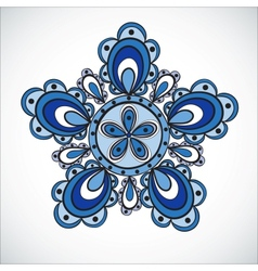 Blue flower pattern Hand drawn style vector image vector image