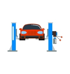 Car repair service diagnostics cartoon flat vector image