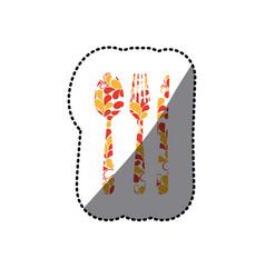 color cutlery tools icon vector image