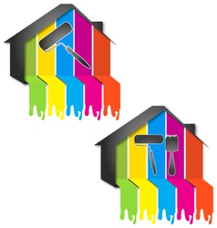 design for painting houses vector image