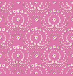 seamless pattern with ornaments made by flowers vector image vector image