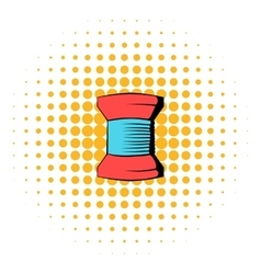 Spool of thread icon comics style vector image vector image
