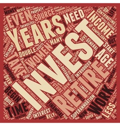 Why do we need to invest text background wordcloud vector image vector image