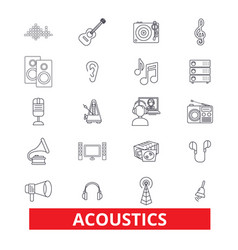 acoustics sound music guitar electric vector image