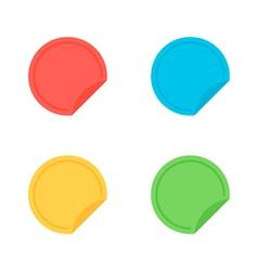 Colorful flat design sticker banner label set vector image vector image