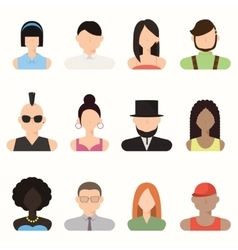 People avatar male and female human faces vector image