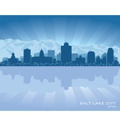 Salt Lake City Utah skyline city silhouette vector image vector image