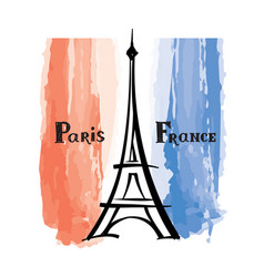 travel france sign paris famous eiffel tower vector image
