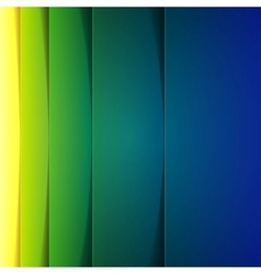 Abstract green and blue rectangle shapes vector image