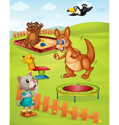 Animal playground vector image vector image