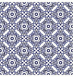 blue pattern seamless 1 vector image vector image
