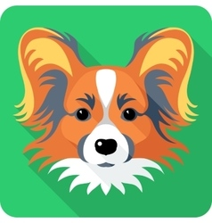 dog Chinese Crested icon flat design vector image vector image