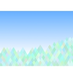 Mountain abstract triangle background vector image vector image