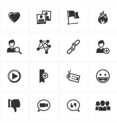 Social Media Icons - Set 2 vector image