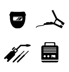 welding equipment set vector image