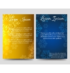 Winter brochure flyers design with snowflakes vector image