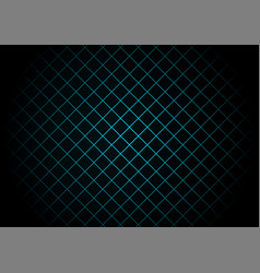 Abstract black square pattern on light blue vector