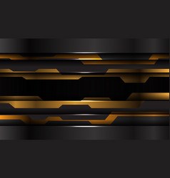 abstract yellow black metallic cyber technology vector image
