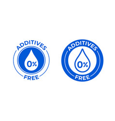 Additives free 0 percent icon natural food vector