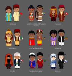 africans in national dress vector image