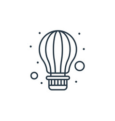 Air balloon icon isolated on white background vector
