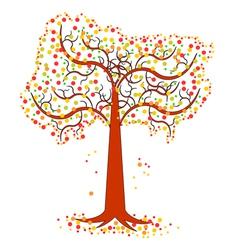An autumn tree vector