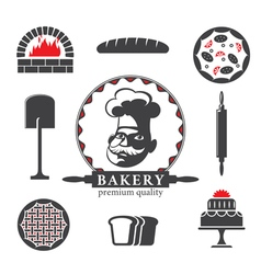 bakery design elements vector image