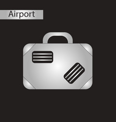 Black and white style icon suitcase vector