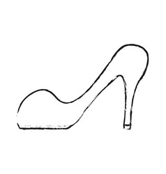 black blurred silhouette cartoon high heels shoes vector image