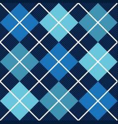 blue argyle harlequin seamless pattern vector image