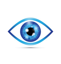Blue realistic eyeball vector