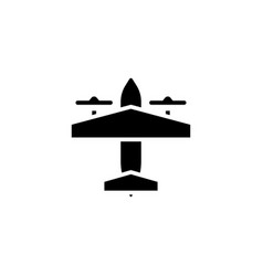 bomber plane icon solid vehicle and vector image