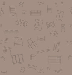 brown seamless pattern furniture vector image