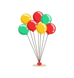Bunch Of Flying Helium Multicolor Party Balloons vector image