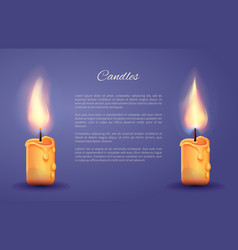 candles decoration poster vector image