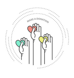 charity donation and philanthropy concept icon vector image