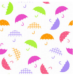 colorful umbrella isolated seamless vector image