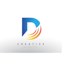 Creative corporate d letter logo icon design with vector